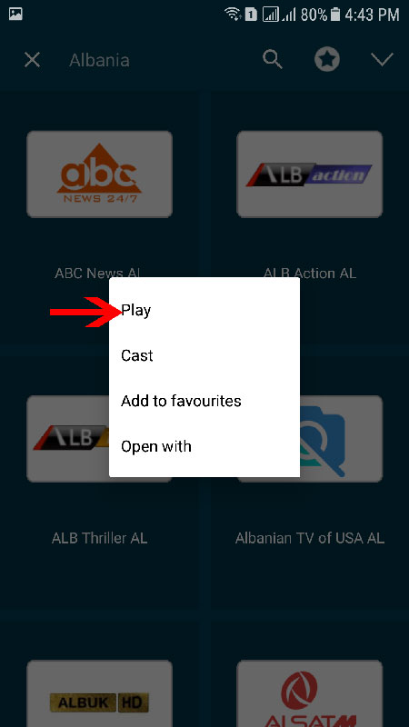 GSE app on android iptv guide